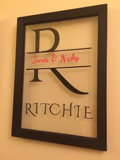 Family Name Personalised Papercut by Dala Designs