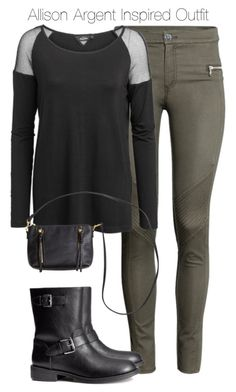 """Teen Wolf - Allison Argent(Sweden Friendly) Inspired Outfit"" by staystronng ❤ liked on Polyvore featuring H&M, allisonargent and tw"