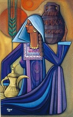 Palestinian art Palestine Art, Middle Eastern Art, Arabian Art, Egypt Art, Indian Art Paintings, Elements Of Art, Islamic Art, Illustrations, New Art