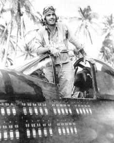 WWII Corsair Pilot. Such a cool photo.