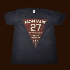 Vintage 27 T-shirt Navy - Montauk Tackle Company