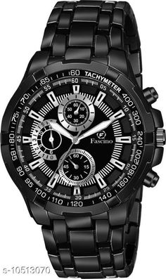 Checkout this latest Watches Product Name: *fascino New Stylist Explorer & Business Casual Black Metal Chain Belt Black Watch With Decorative Sub-Dials For Men And Boys FCW 2970-BLK Analog Watch - For Men * Strap Material: Metal Display Type: Chronograph/ Multifunctional Size: Free Size Multipack: 1 Easy Returns Available In Case Of Any Issue   Catalog Rating: ★4 (246)  Catalog Name: Free Mask Unique Men Watches CatalogID_1920062 C65-SC1232 Code: 853-10513070-9911
