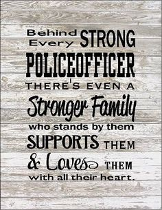 Behind Every Police Officer Family Loves Them Large Wood Sign, Canvas Wall Hanging, or Canvas Banner - Christmas, Father's Day by HeartlandSigns on Etsy