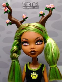 Custom Monster High Doll Tree Nymph or Dryad Commission by Doctor Frankendesign www.DoctorFrankendesign.com