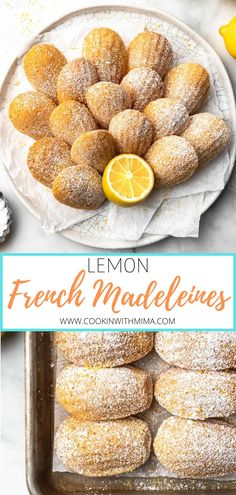 Fruit Recipes, Cookie Recipes, Dessert Recipes, Madeleines Cookies Recipe, Christmas Desserts, Christmas Baking, Bar Cookies, Cookies Et Biscuits, Lemon Madeleine Recipe