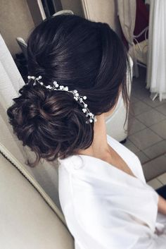 Stunning Wedding Hairstyles Every Hair Length ★ See more: www.weddingforwar… Stunning Wedding Hairstyles Every Hair Length ★ See more: www. Quince Hairstyles, Wedding Hairstyles For Long Hair, Wedding Hair And Makeup, Bride Hairstyles, Bridal Hair, Cool Hairstyles, Hair Wedding, Wedding Beauty, Wedding Dresses