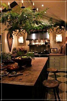 Irish cottage kitchen - creative home and interiors Primitive Kitchen, Country Kitchen, Cozy Kitchen, Kitchen Ideas, Kitchen Black, Rustic Kitchen, Earthy Kitchen, Earthy Home, Primitive Decor