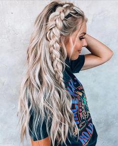 Dutch Braid Tutorial for 2019 Latest Season 2019 Dutch Braid Tutorial; Half-up Dutch Braid; Ponytail with Dutch Braid;Hairstyles For braiding Dutch Braid Hairstyles Pretty Hairstyles, Easy Hairstyles, Hairstyle Ideas, Braid And Curls Hairstyles, Braid Hairstyles For Long Hair, Side Braids For Long Hair, Boho Hairstyles For Long Hair, Summer Hairstyles, Choppy Hairstyles