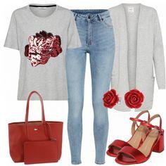 Erdbeere Damen Outfit Komplettes Frühlings Outfit günstig