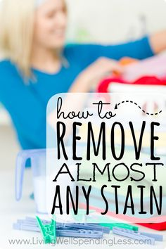 No one wants to toss a perfectly good shirt because of a stain that won't come out!  Next time, try these tried & true techniques for removing almost any stain.  From blueberries to wine, these simple steps will keep your laundry looking good as new.  There's even a cute printable cheat sheet to hang in your laundry room!