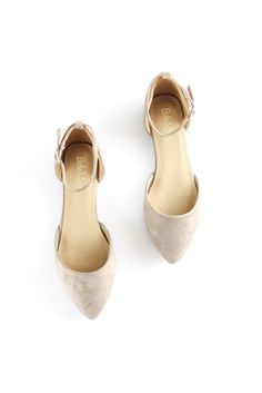 Nude Suede Flats. So much love for these beauts! The same exact style as our #1 selling Leopard Flats now in a more  subtle nude color! The adjustable ankle strap make these so chic, so cute, and so fun...true perfection for spring! Boutique style. Spring fashion. Shoes for spring. therollinj.com