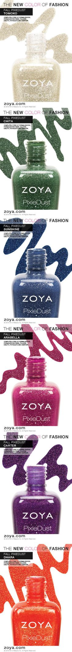 Zoya PixieDust Fall 2013 Edition - ORDER THEM ALL NOW!