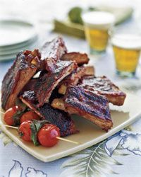 Chinese-Style Ribs with Guava Barbecue Sauce - Asian Beer Pairings on Food & Wine Rib Recipes, Grilling Recipes, Asian Recipes, Cooking Recipes, Guava Recipes, Asian Foods, Chinese Recipes, Yummy Recipes, Gourmet