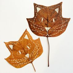 Nature: leaves ❦ art & craft ideas for kids листья, осень i Tattoo Posters, Flower Collage, Art Drawings Beautiful, Art Projects For Teens, Black And White Painting, Painted Leaves, Diy Canvas Art, Leaf Flowers, Leaf Art