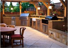 Big Ridge BF001 Belle Fontaine Luxury Outdoor Kitchen With Fire Magic Echelon E790i Grill And Appliances, Complete Package, Big Ridge Outdoor Kitchens LLC