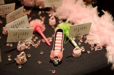 The place card table at a fashion themed Bat Mitzvah. | MitzvahMarket.com