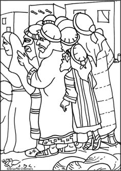 Zacchaeus Free Coloring Pages