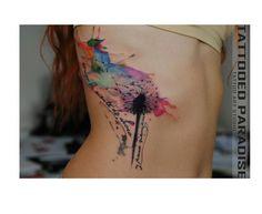 Akwarelowy tatuaż - 35 HOT wzorów na ręce, nogi i plecy - Strona 14