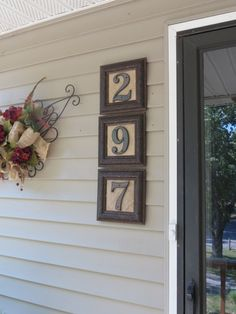 House Numbers made from Mirror Frames.  oooh hobby lobby here i come, Tyler will…