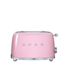 Toast bread, buns, bagels and more with Smeg's sleek, retro-inspired toaster. It was artfully designed in collaboration with a team of Italian architects.   Powder-coated steel; stainless steel   Wipe