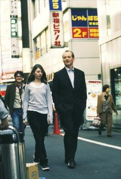 Bill Murray and Sofia Coppola on the set of Lost In Translation (2003)