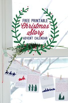 I absolutely love this idea of printing out these cards with the whole scripture story on them and hanging one up each day during Advent.  Why not print this out and give as a gift to a family?