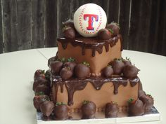 Texas Rangers Grooms Cake on Cake Central