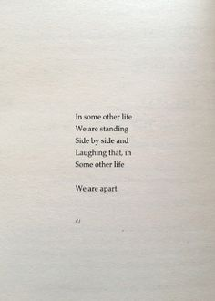 ...we are apart.