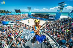 FTL - nice overview of the Red Bull arena in Fort Lauderdale. Beach Major Series of Beach Volleyball. Beach Volleyball, Local Hero, Sport, Fort Lauderdale, Nice, Red Bull, Travel, Events, Inspiration