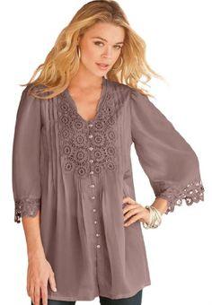 Denim 24/7 Plus Size Juliet Lace Bigshirt (bestseller)