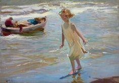 Niña en la playa 1910 Joaquín Sorolla