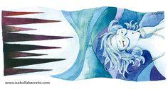 Ilustração para a crônica Submarina, escrita pela Fernanda Torres e publicada na revista Veja Rio, Editora Abril.