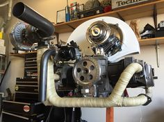 Turbo motor for my 65 bus is almost done. Vw Turbo, Turbo Motor, Vw Engine, Vw Bugs, Outdoor Power Equipment, Harley Davidson, Engineering, Cars, Motors