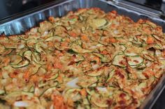Low Calorie Zucchini Carrot Casserole- so yummy and easy without any guilt! 2.5 weight watchers points plus!