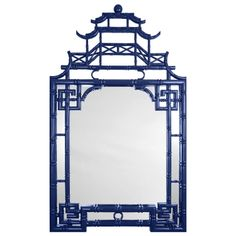 Barclay Butera for Mirror Image Home Pagoda Mirror Blue