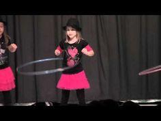 CUTE Girls Perform Hula Hoop Dance in Talent Show - YouTube