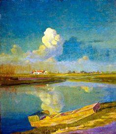 Valerius De Saedeleer(Belgium 1867ー1941)「Latem Village Landscape」(1903)