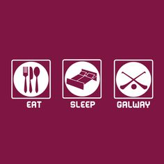 Eat-Sleep-Galway Gaa T-Shirt Sport Inspiration, Eat Sleep, Lol, Ireland, Sports, T Shirt, Hs Sports, Supreme T Shirt, Tee