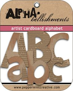Artist Cardboard Alphabet from www.peppermintcreative.com