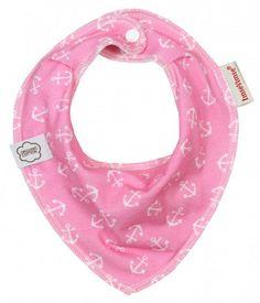 Organic bandana pink anchor | Younetics.nl Imse Vimse Biologisch katoen. Leuk kraamcadeau.