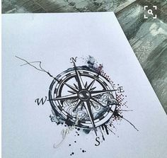 Maybe a compass in the floral thigh piece?