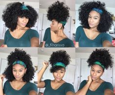 Reach your hair goals in no time. Get longer hair Reach your hair goals in no time. Get longer hair hair Natural Hair Tips, Natural Hair Inspiration, Natural Curls, Natural Hair Styles, Natural Hair With Headband, Curly Hair Headband, Natural Hair Puff, Natural Hair Tutorials, Headband Hairstyles