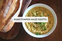Roasted Pumpkin and Millet Risotto - v e g g i e m a m a