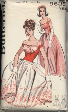 Butterick 9635, ca 1960s; Sz 14/Bust 34 (acquired for $23) AND Sz 12/Bust 32. I've seen this rare number go for 165 dollars :-O!
