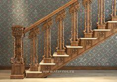 Резная лестница RLE-061 - Фото - Ставрос