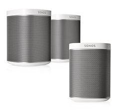 Sonos Multi-Room Digital Music System Bundle with Three Speakers (White) Sonos Play 1, Sonos Speakers, Music System, Shot Glass, Digital, Tableware, Goodies, Design, Amazon