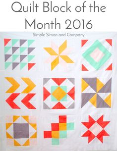 2016 Quilt Block of the Month Yardage Requirements