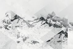 Mountain black and white graphic design for bathroom decoration. Perito Moreno BW Scattered Art Print by Joe Mania now on Juniqe.com | Art. Everywhere.