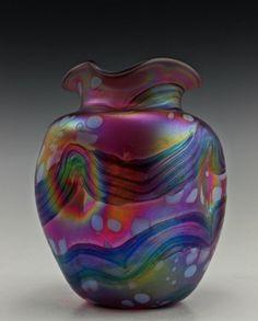 Amazing Bohemian Loetz Art Noveau Style Iridescent Vase