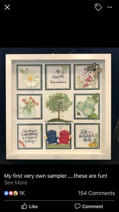 Calendar Pages, Shadow Box Frames, Collage Frames, Stamping Up, Stampin Up Cards, Trays, Framed Artwork, Squares, Picture Frames